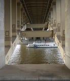 Andrew mosta rzeka 2014 Moskwa obrazy stock