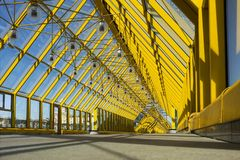 Andrew pedestrian bridge in Moscow - the view from inside. Stock Photography