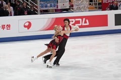 Andrew Poje and Kaitlyn Weaver Royalty Free Stock Photo
