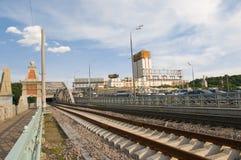 Andrew railway bridge Stock Image