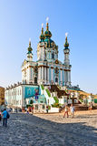 Andrew's Church was built in 1754, Kiev, Ukraine. Royalty Free Stock Photos