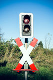 Andrew's Cross with traffic lights Stock Photos