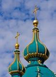 Andrew& x27; s Kerk Kiev, de Oekraïne Kyiv, de Oekraïne Stock Fotografie