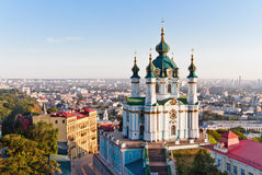 Andrew& x27; s Kerk Kiev, de Oekraïne Kyiv, de Oekraïne Stock Afbeeldingen