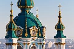Andrew& x27; s Kerk Kiev, de Oekraïne Kyiv, de Oekraïne Royalty-vrije Stock Afbeelding