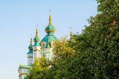 Andrew-` s Kirche in Kiew ukraine lizenzfreie stockbilder