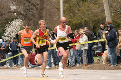 Andrew, Sell and Troop race up Heartbreak Hill Stock Photo