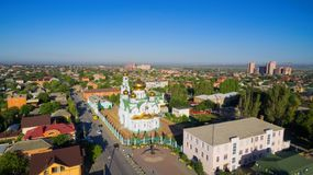 Russia. Rostov region. Bataysk. Andrew Square and Holy Trinity C Royalty Free Stock Images