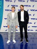Andrew Taggart and Alex Pall of The Chainsmokers. At the 2017 MTV Video Music Awards held at the Forum in Inglewood, USA on August 27, 2017 stock image