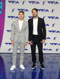 Andrew Taggart and Alex Pall. Of The Chainsmokers at the 2017 MTV Video Music Awards held at the Forum in Inglewood, USA on August 27, 2017 royalty free stock image