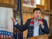 Andrew Yang Presidential Candidate lizenzfreies stockfoto