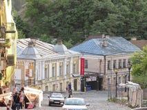 Andrews Abfall - Straße im alten Teil von Kiew Lizenzfreie Stockfotografie