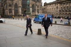 Andrews Coulsons ankommer lagliga lag på Skottland högre domstol arkivbild