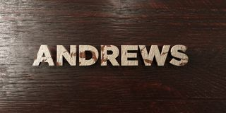 Andrews - grungy wooden headline on Maple  - 3D rendered royalty free stock image Stock Images
