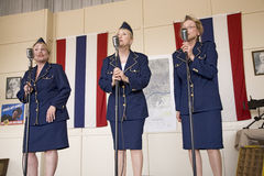 Andrews Sisters style reenactment Royalty Free Stock Image
