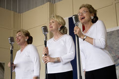 Andrews Sisters style reenactment Stock Image