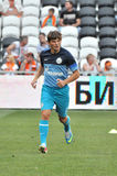 Andrey Arshavin on the field of Donbass-Arena Royalty Free Stock Images