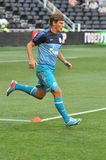 Andrey Arshavin warms-up Royalty Free Stock Photos