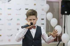 Andrey Boyko. Kiev, Ukraine - 6 June 2014.  Andrey Boyko is winner  of vocal festival New Wave Junior 2014 and semifinalist of Ukrainian show The Voice Kids 2012 Stock Image