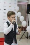 Andrey Boyko. Kiev, Ukraine - 6 June 2014.  Andrey Boyko is winner  of vocal festival New Wave Junior 2014 and semifinalist of Ukrainian show The Voice Kids 2012 Stock Photos