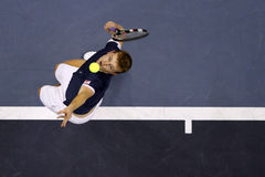 Andrey Golubev. Serve during ATP Malaysian Open Stock Image