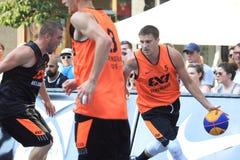 Andrey Kanygin - basquetebol 3x3 Fotos de Stock Royalty Free