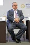 Andrey Kostin. SAINT-PETERSBURG, RUSSIA - JUN 16, 2016: St. Petersburg International Economic Forum SPIEF-2016. Andrey Kostin - Russian banker, currently Stock Image