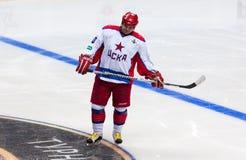 Andrey Kovalenko (40), forward of CSKA Legends team Royalty Free Stock Photo