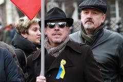 Andrey Makarevich na paz março Foto de Stock