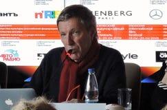 Andrey Plakhov bij Eerste officiële persconferentie van Internationaal de Filmfestival van 41ste Moskou royalty-vrije stock foto's