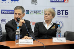 Andrey Rodionenko e Larisa Latynina Fotografia de Stock