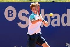 Andrey Rublev bawić się przy ATP (gracz w tenisa od Rosja) Obraz Royalty Free