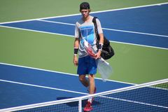 Andrey Rublev. Tennis player Andrey Rublev at the 2017 US Open tennis grand slam Royalty Free Stock Images