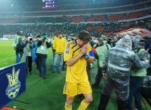 Andrey Schevchenko crying Stock Image