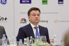 Andrey Vorobyov. SAINT-PETERSBURG, RUSSIA - JUN 17, 2016: St. Petersburg International Economic Forum SPIEF-2016. Andrey Vorobyov - Governor of Moscow Oblast Royalty Free Stock Photos