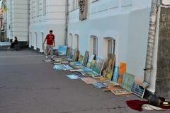 Andreyevskiy spusk (κάθοδος του Andrew), Κίεβο στοκ εικόνες