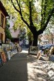 Andreyevskiy spusk (κάθοδος του Andrew), Κίεβο στοκ φωτογραφίες