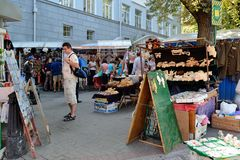 Andreyevskiy spusk (Andrew's descent), Kiev Royalty Free Stock Photo