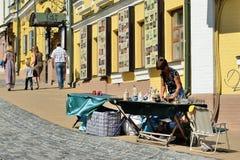 Andreyevskiy spusk (Andrew's descent), Kiev Stock Photo
