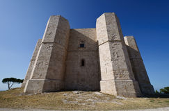 Andria Castle. View of Castel del Monte stronghold in Andria - Apulia, Italy Stock Photos