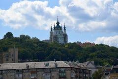 Andriivs ` ka kościół w Kijów Zdjęcie Stock