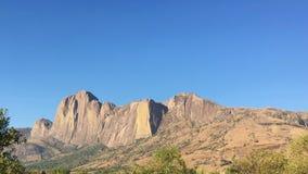 Andringitra山在Andringitra国家公园在马达加斯加 库存照片