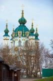 andrivska 1747 Андрюа как построенный st известный kiev orthordox s церков восточный Украина было Стоковое фото RF
