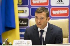 Andriy Shevchenko, allenatore della squadra di football americano nazionale di Ucraina Fotografia Stock