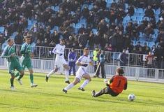 Andriy Shevchenko of Dynamo Kyiv scores a goal Stock Images