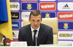 Andriy Shevchenko, Trainer des nationalen Fußballteams von Ukraine Lizenzfreies Stockfoto