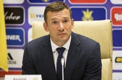 Andriy Shevchenko, Trainer des nationalen Fußballteams von Ukraine Lizenzfreies Stockbild