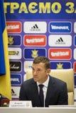Andriy Shevchenko, Trainer des nationalen Fußballteams von Ukraine Stockbild