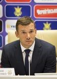 Andriy Shevchenko, Trainer des nationalen Fußballteams von Ukraine Stockbilder