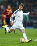 Andriy Yarmolenko射击球、UEFA欧罗巴16在发电机之间的秒腿比赛同盟回合和埃弗顿 库存图片